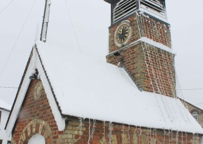 Pump Hosue and Clock Tower after a snowfall