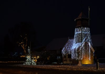 Pump House and Clock Tower with festive lights photograph courtesy of James Hoare - CEng MIET MEI