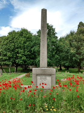 Poppies with the Obelisk