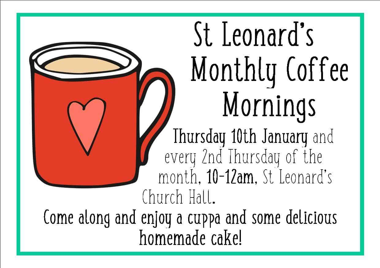 St Leonard's Church Monthly Coffee Mornings