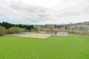 Aerial view of Bryants Lane Tennis Court - image by kind permission of James Hoare of LHW Partnership LLP
