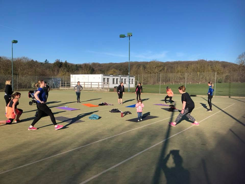 Boot camp on a sunny morning at Bryants Lane Sports Ground
