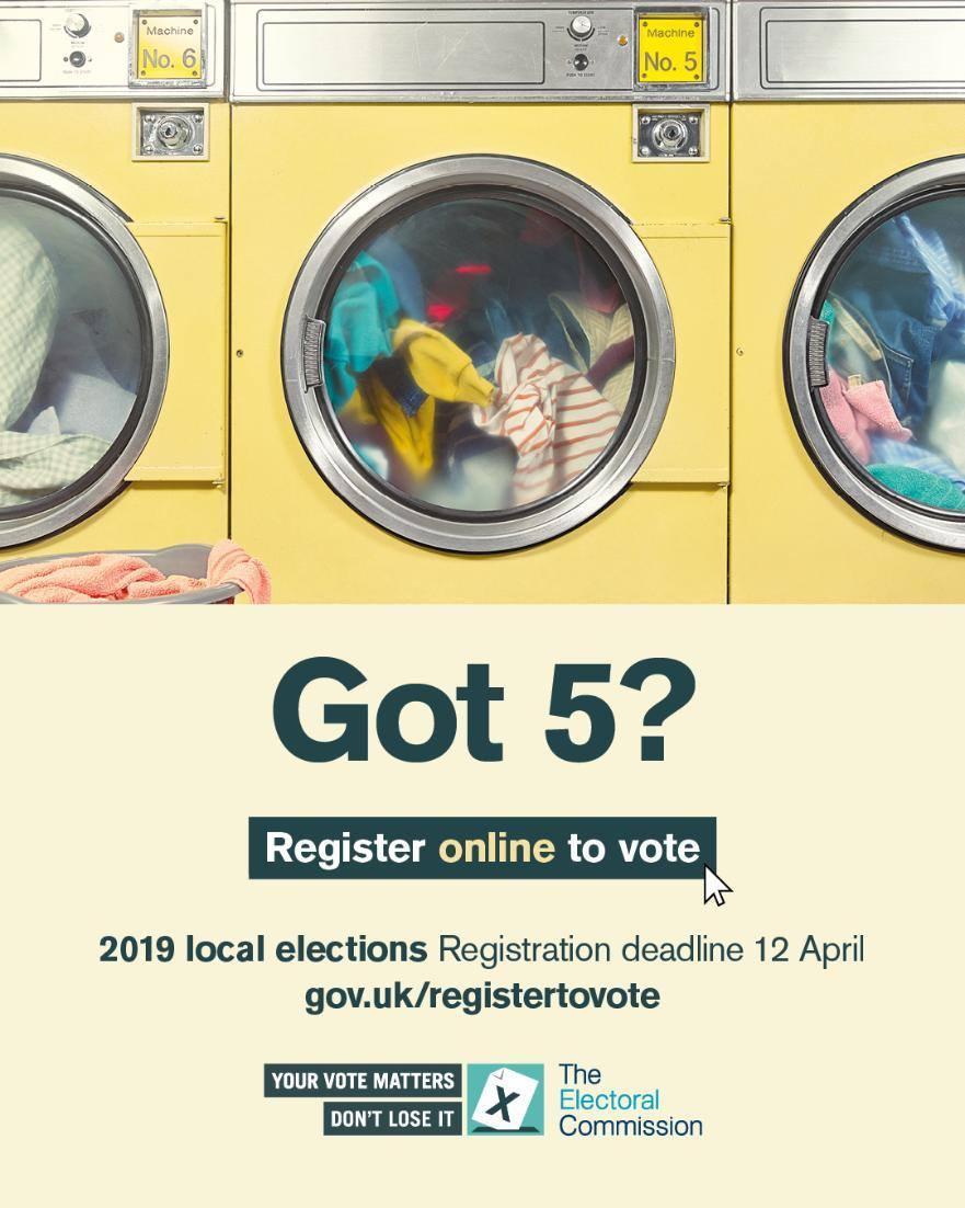 Got 5  -  Register to Vote
