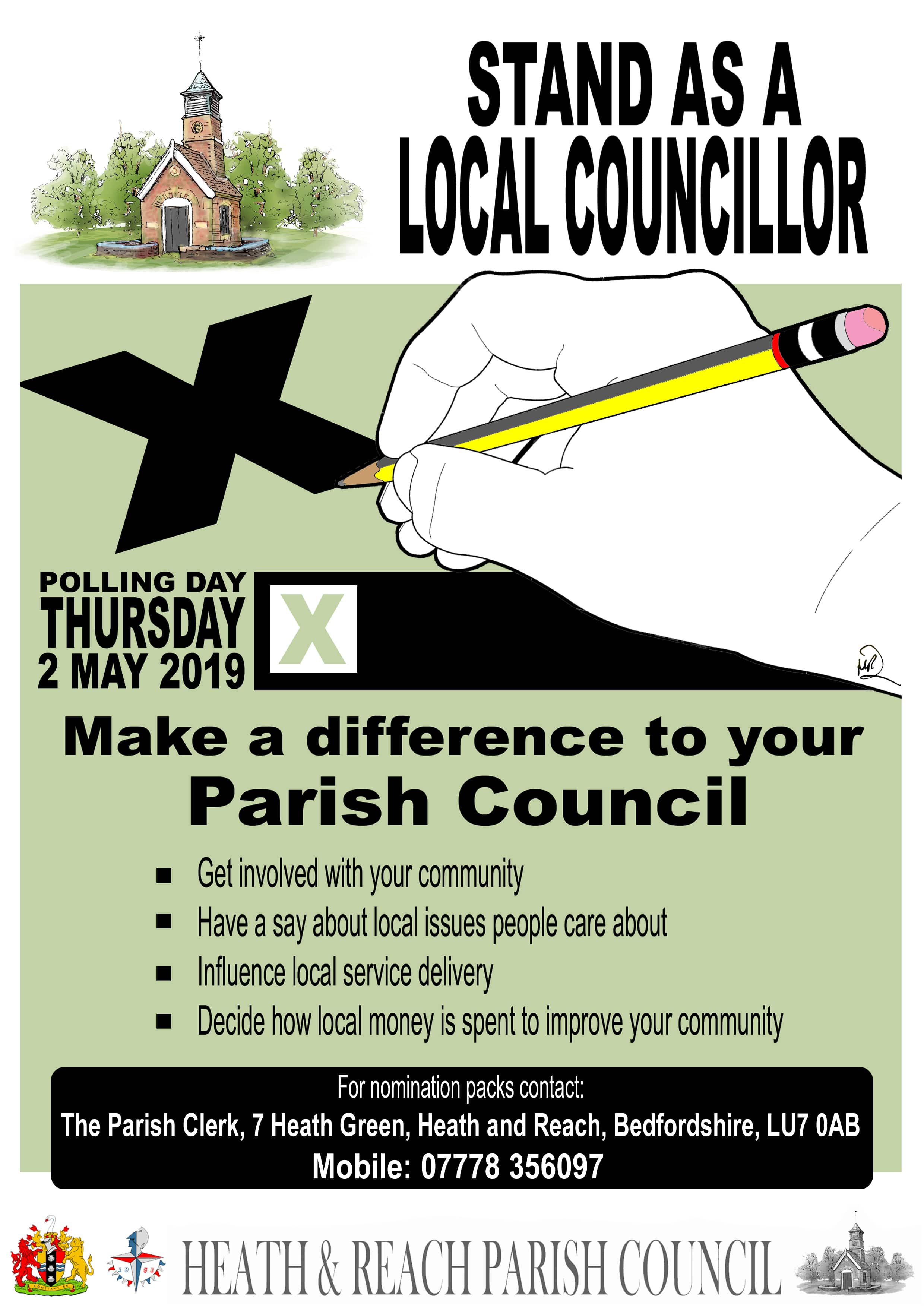 Stand as a local Councillor - poster designed by Martin Richardson from ARTMARt