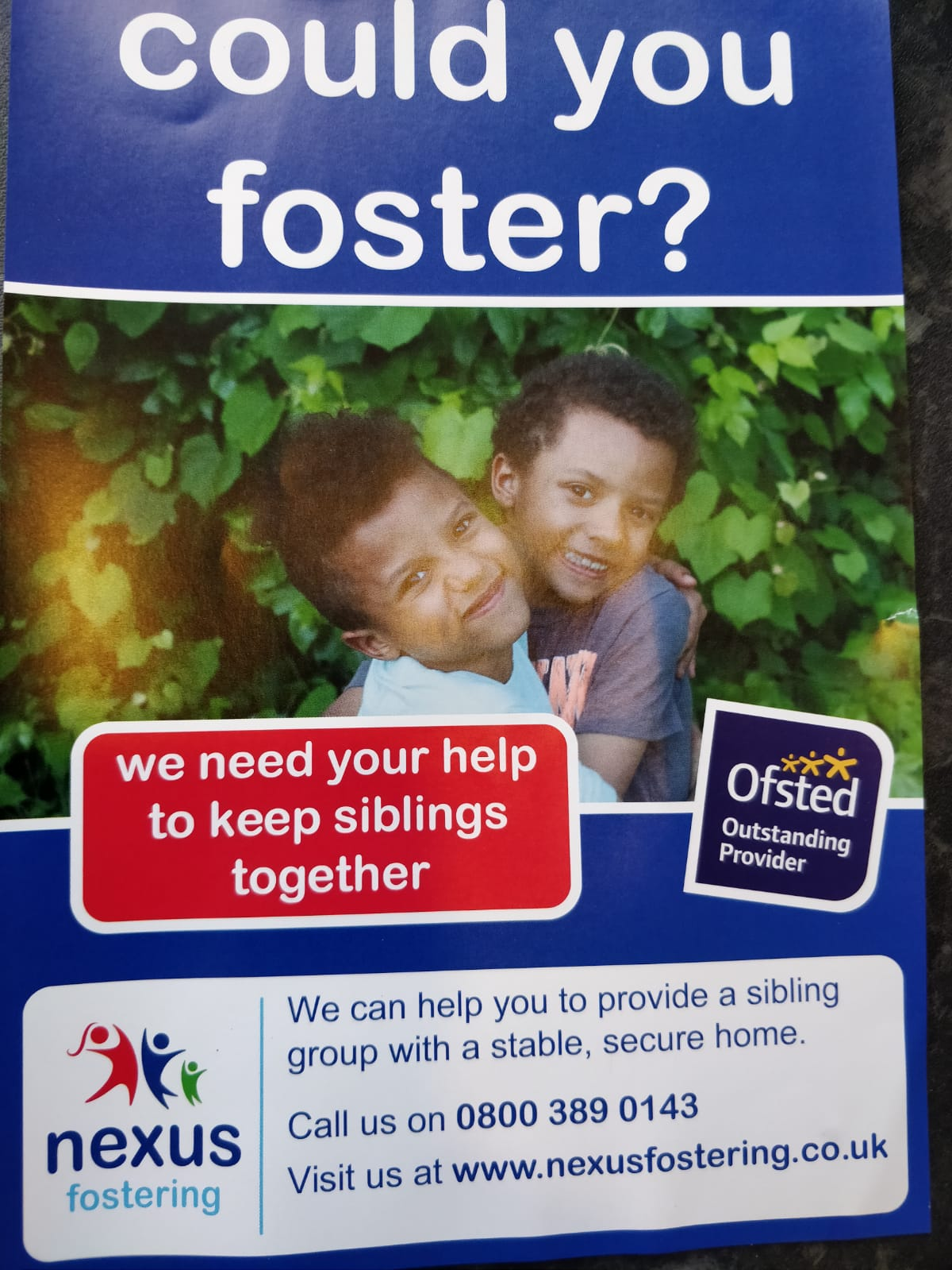 Could you foster? Nexus Fostering