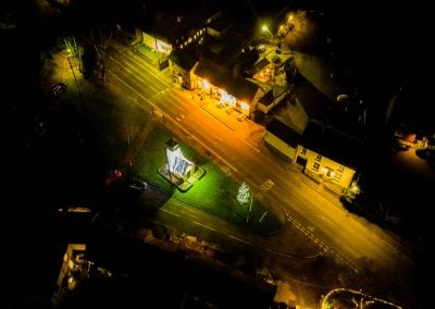 Heath Green at night - christmas lights - drone photography by kind permission of James Hoare 2019-min