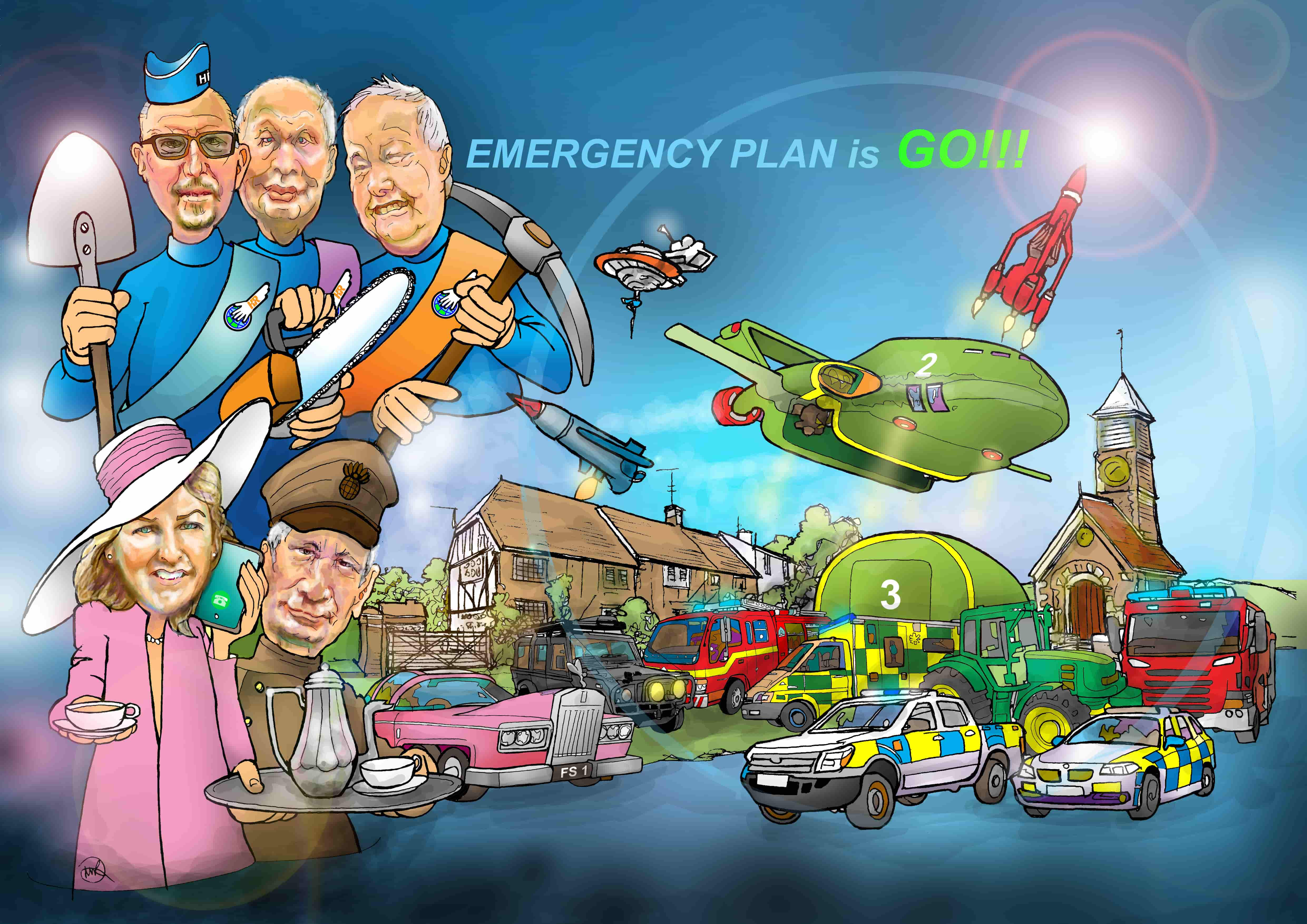 Emergency plan graphic by Martin Richardson of ARTMART