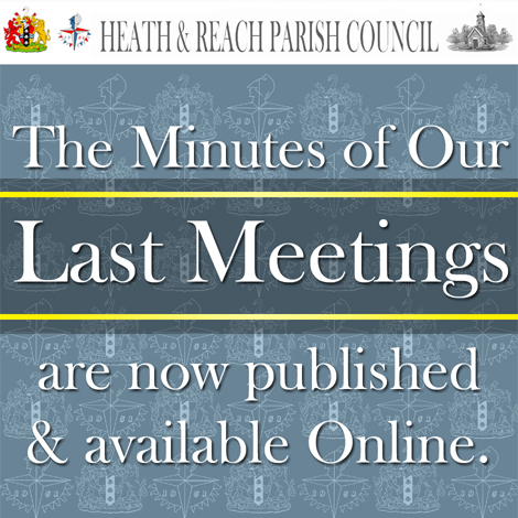 Graphic image advising that meeting minutes are now viewable online.