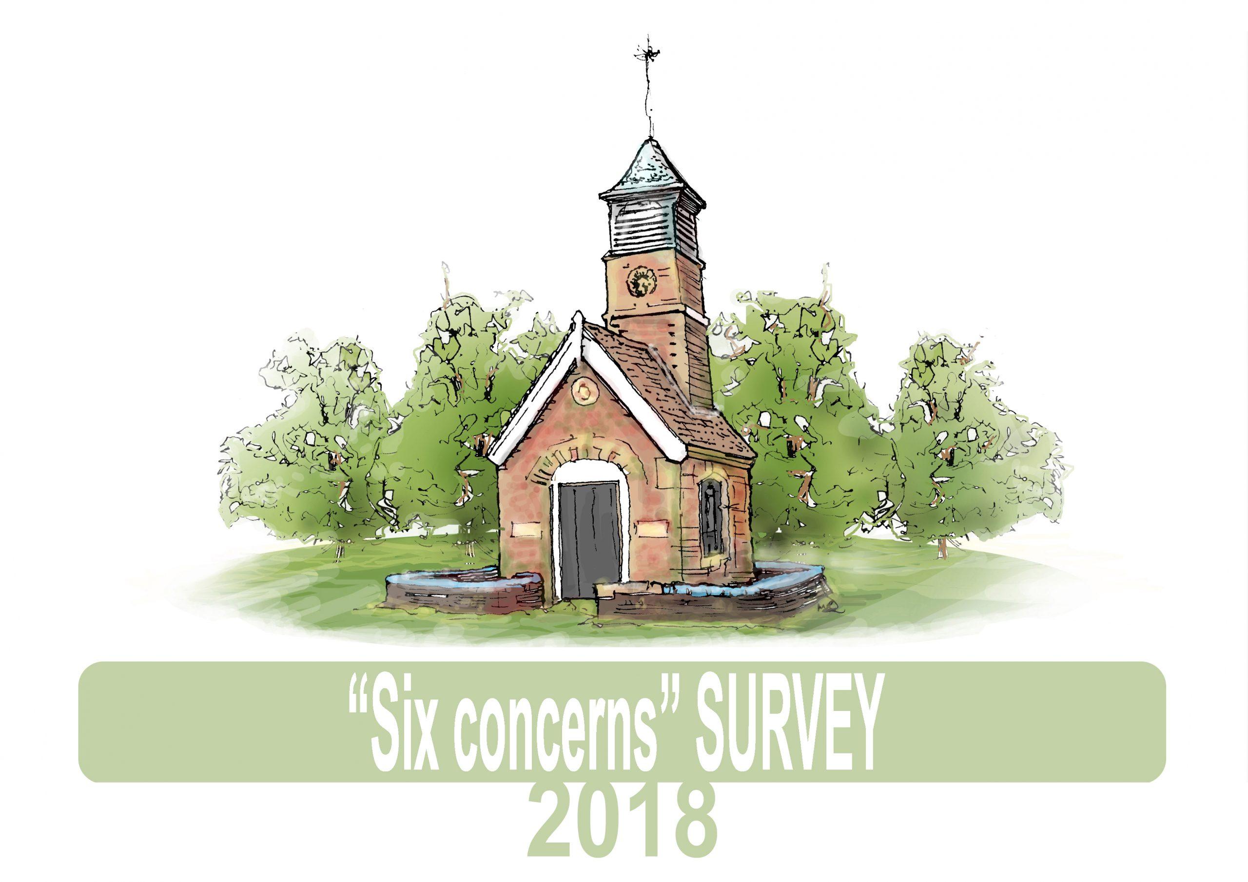 Six concerns survey graphic by Martin Richardson of ARTMART